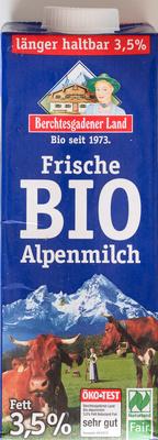 Frische BIO Alpenmilch - Product