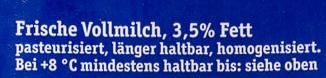 Frische BIO Alpenmilch - Ingrediënten