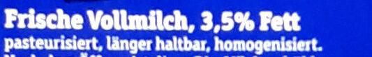 Frische BIO Alpenmilch - Ingredienti - de