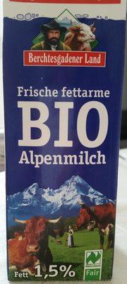 Frische fettarme Bio Alpenmilch - Produkt
