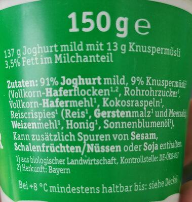Natur Knusper - Ingrédients - de