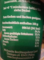 Frischer Schmand - Informations nutritionnelles - de