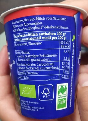 Bioghurt alla frutta - Informations nutritionnelles - de