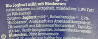 FRUCHT BIOghurt Himbeer - Ingrediënten - de