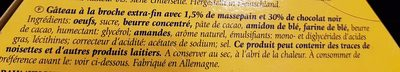 BaumKuchen Zartbitter - Ingrédients