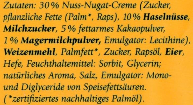 4 Kinder-Hörnchen - Ingrédients - de