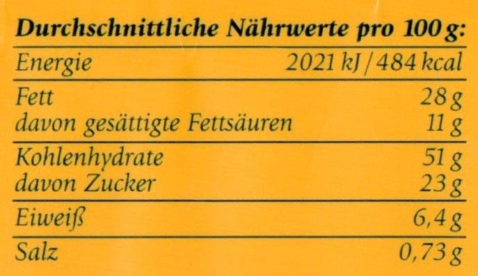 4 Kinder-Hörnchen - Informations nutritionnelles - de