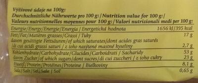 Milchbrötchen - Voedingswaarden