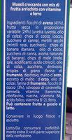 Muesli croccante con mix di frutta - Ingredients - it
