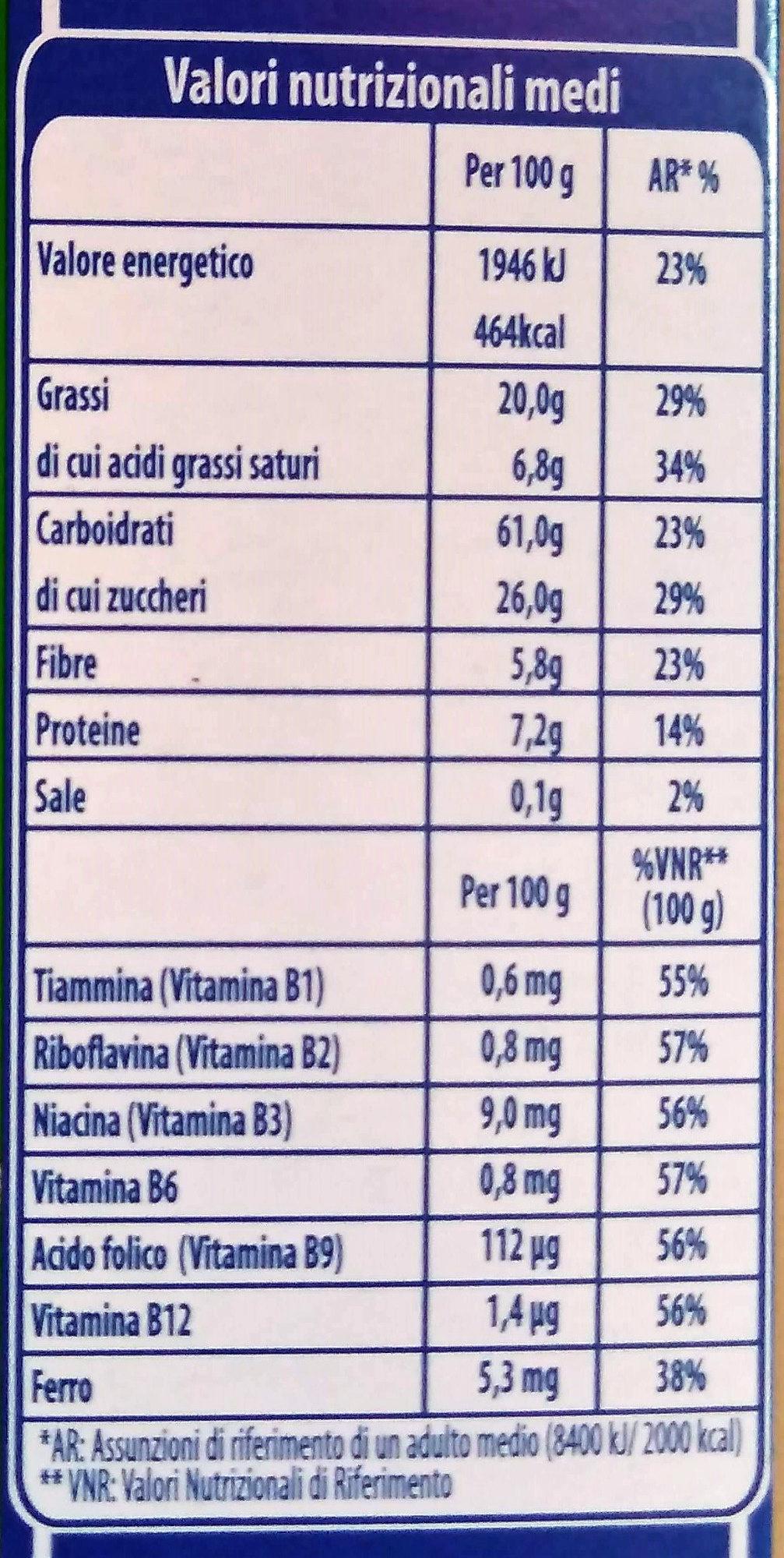 Muesli croccante con mix di frutta - Nutrition facts - it