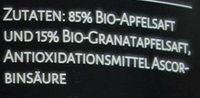 Bergapfel-Granatapfel-Saft - Ingrédients