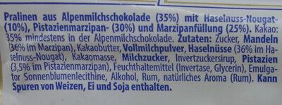 Mozart Kugeln - Ingrediënten - de
