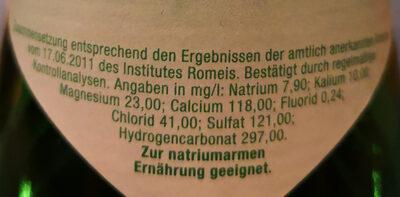 Kastell medium - Valori nutrizionali - de