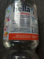 Hella Wasser mit Geschmack Erdbeer - Ingredients - de