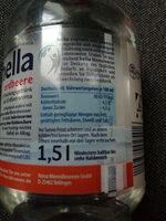 Hella Wasser mit Geschmack Erdbeer - Nutrition facts - de