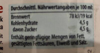 Erfrischungsgetränk mit Kirschgeschmack - Nutrition facts - de