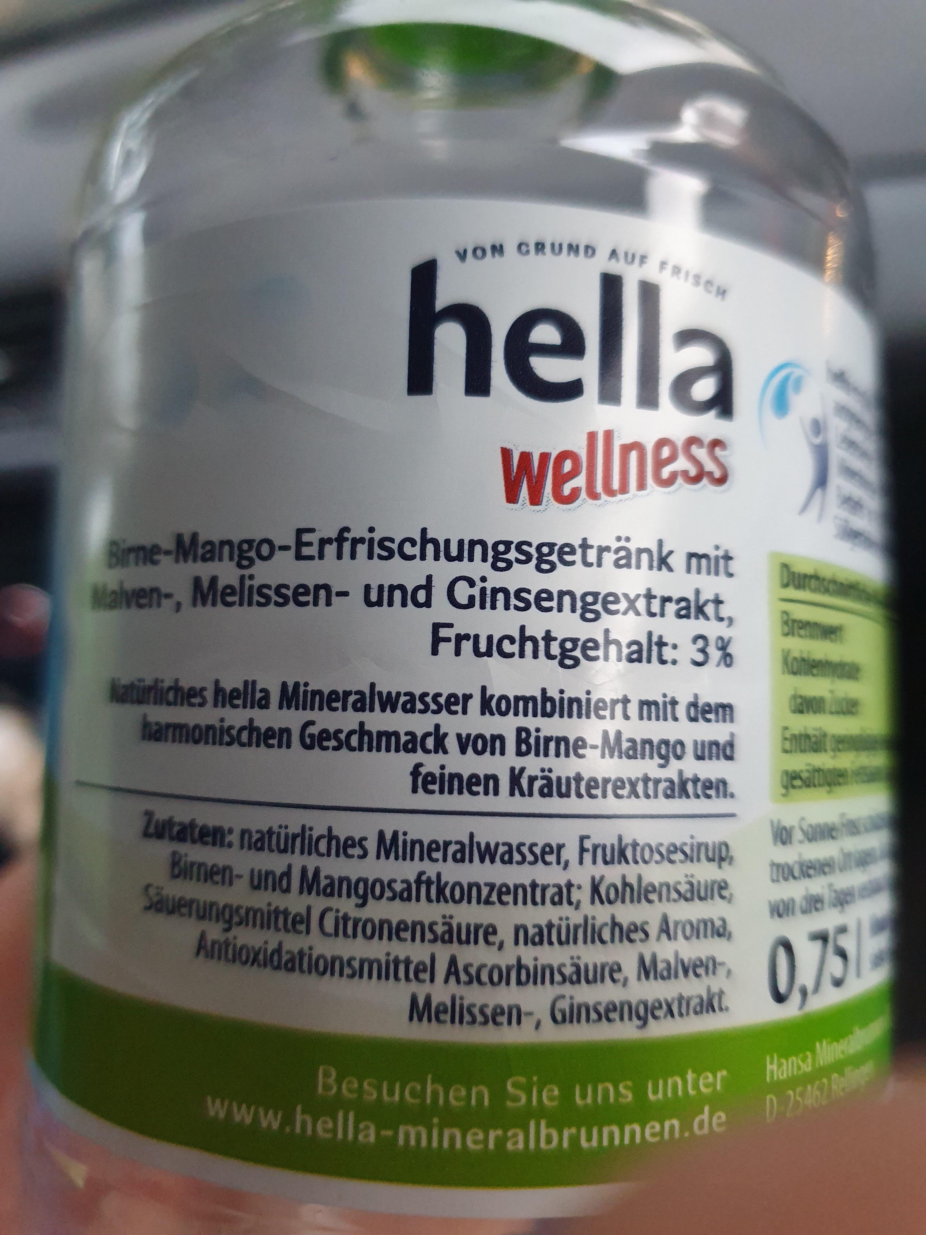 Hella Wellness - Ingredients - de