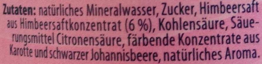 Himbeer-Limo - Ingredients - de