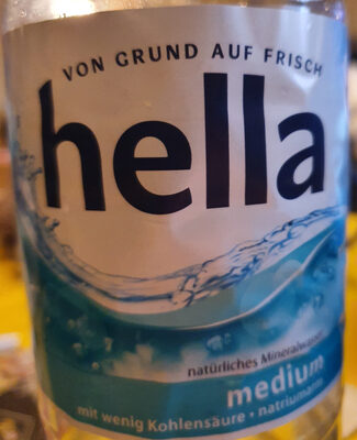 Hella Mineralwasser Medium - Product