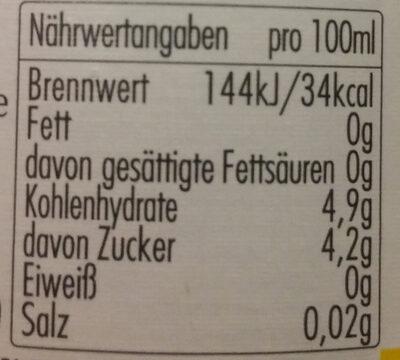 Bitburger Radler - Voedingswaarden - de