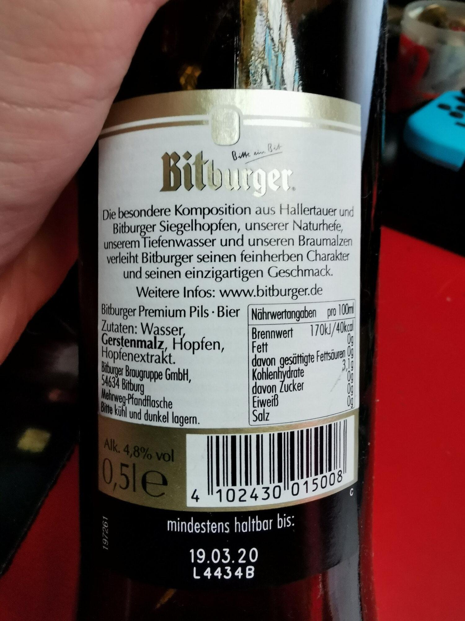 Bitburger Premium Pils - Ingredienti - de