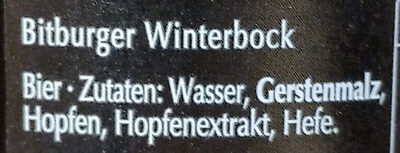 Winterbock - Ingrédients