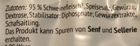 Nürnberger Rostbratwürste - Ingredients - de