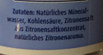 Lemonwater - Ingredients