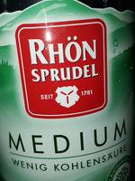 Rhönsprudel medium - Produit