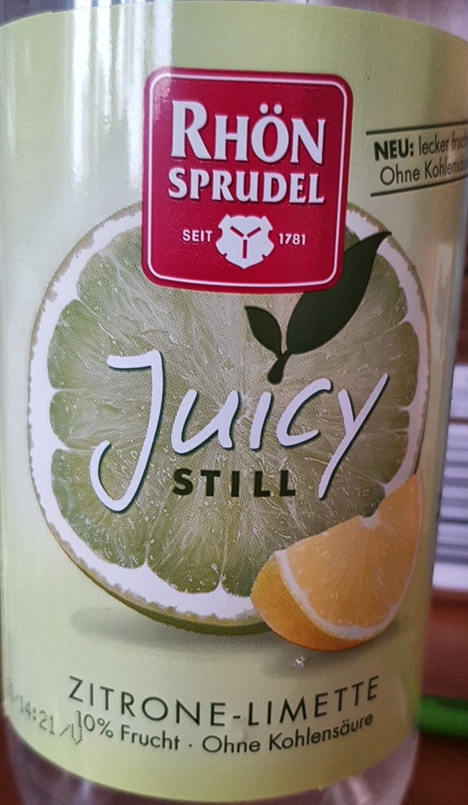 Juicy still Zitrone-Limette - Produit