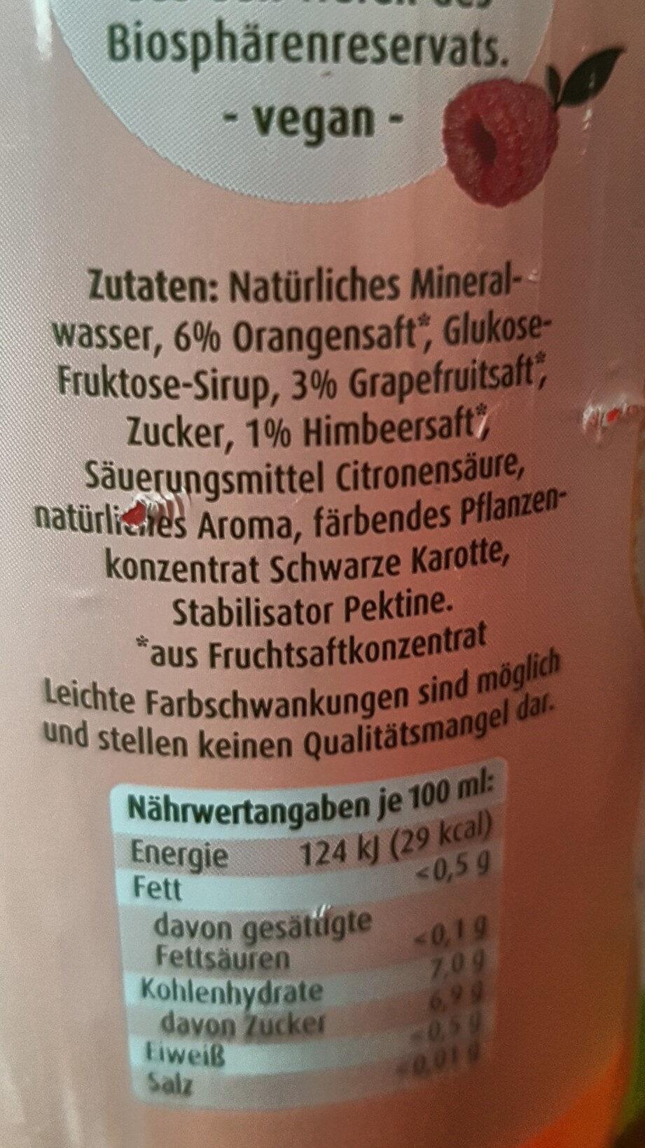 Juicy Still Grapefruit - Himbeere - Ingredients - de