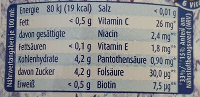 iso Sport Grapefruit - Nutrition facts - de