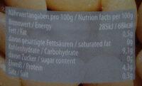 Große Bohnen - Voedingswaarden - de