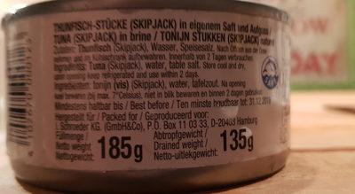 Thunfisch-Stücke - Inhaltsstoffe