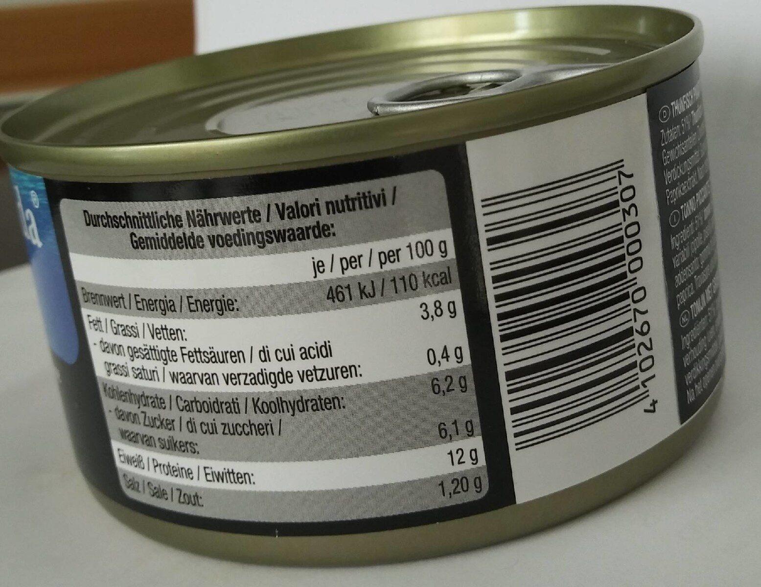 La Miranda Thunfisch - Nährwertangaben - de