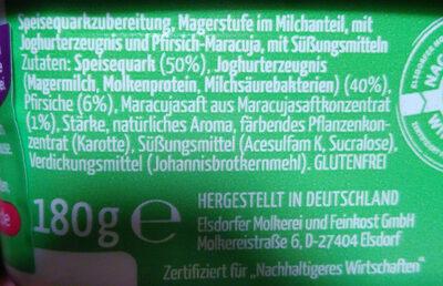 MeinQ Fitness-Quark - Ingrediënten