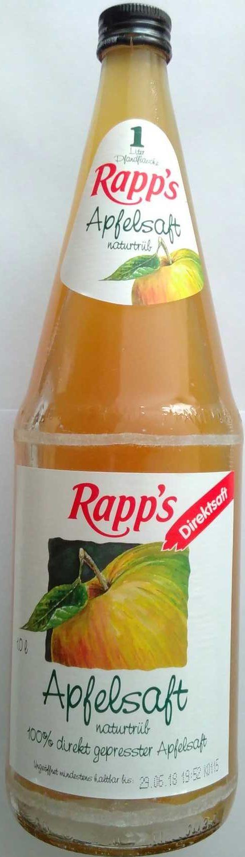 Apfelsaft naturtrüb — Rapp\'s — 1 l