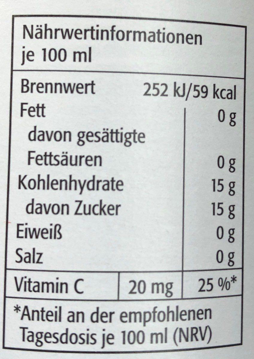 Bananen-Nektar mit Fruchtmark - Informations nutritionnelles