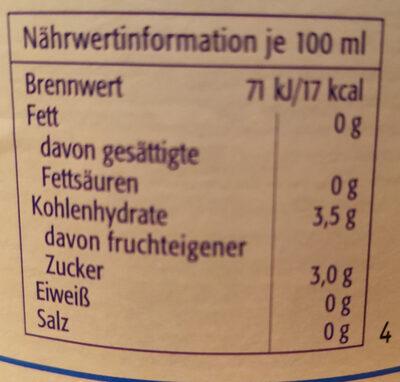 Rapp's Apfelwein alkoholfrei - Nährwertangaben - de