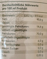 Vergina natives Olivenöl extra - Nutrition facts - de