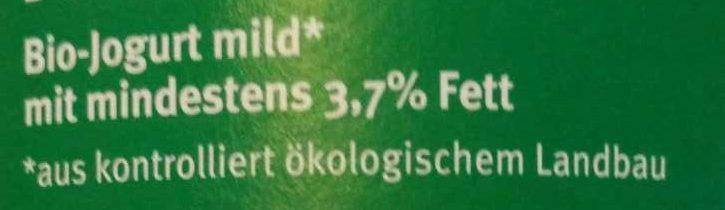 Bio Joghurt mild - Ingrediënten - de