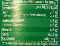 Bio Joghurt mild - Voedingswaarden - de