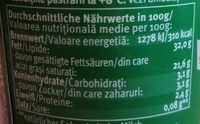 Bio Schlagsahne - Nutrition facts