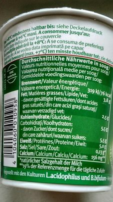 Andechser Bio Jogurt - Informations nutritionnelles