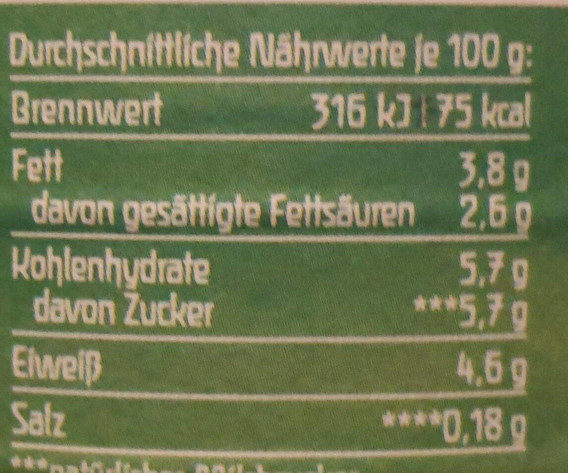 Jogurt mild Natur - Valori nutrizionali - de