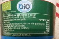 Bio-Speisequarkzubereitung - Nutrition facts - de