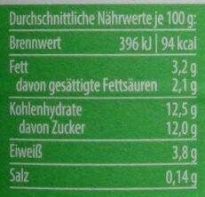 Yaourt Latte Machiato 3,7%MG - Nährwertangaben - fr