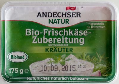Bio-Frischkäsezubereitung Kräuter - Produkt