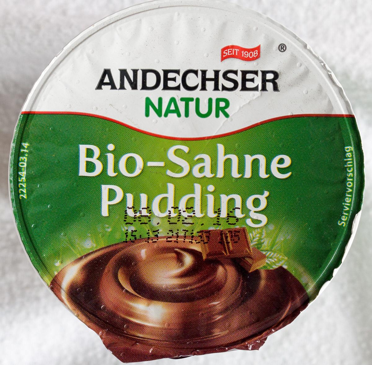 Bio-Sahne Pudding Schokolade - Product