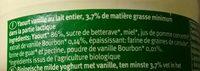 Laif fermenté Bio - vanille - Ingrédients - fr